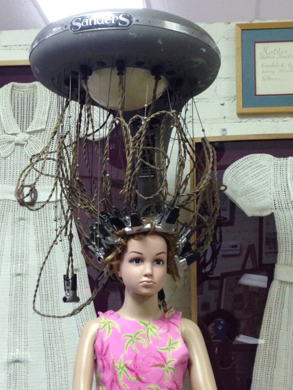 Sanders Permanent Wave machine with a doll, Collection of Oren Dunn City Museum, Tupelo, Mississippi