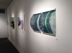 Hailey Hodge, installation view of Spectroscopy, Cosmogony, and Abledo 100%. Copyright (c) the artist.
