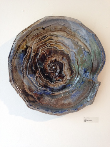 Preston Tolbert, Platter 1. soda fired stoneware. Copyright (c) the artist.