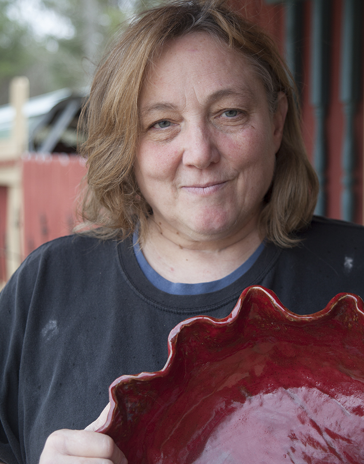 Sharon Grimes, owner of Dirt Roads Pottery