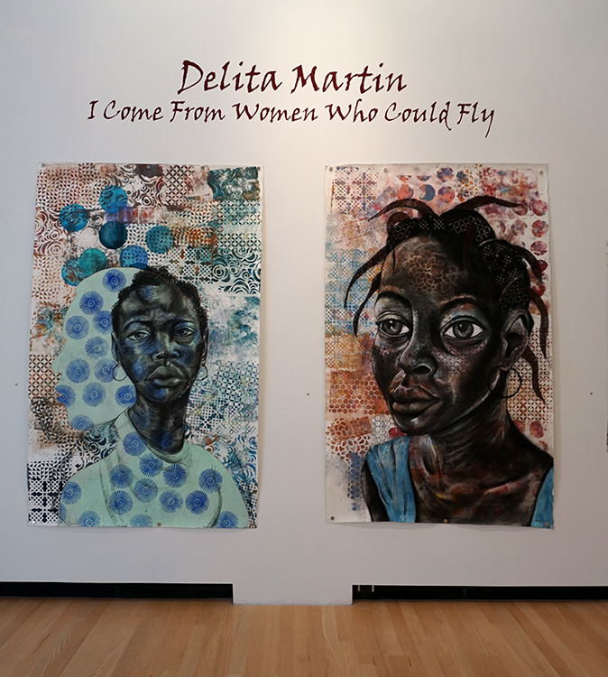 I Come From Women Who Could Fly is an exhibition of work by Delita Martin on view through Nov. 29, 2015 at the Ohr-O'Keefe Museum of Art.