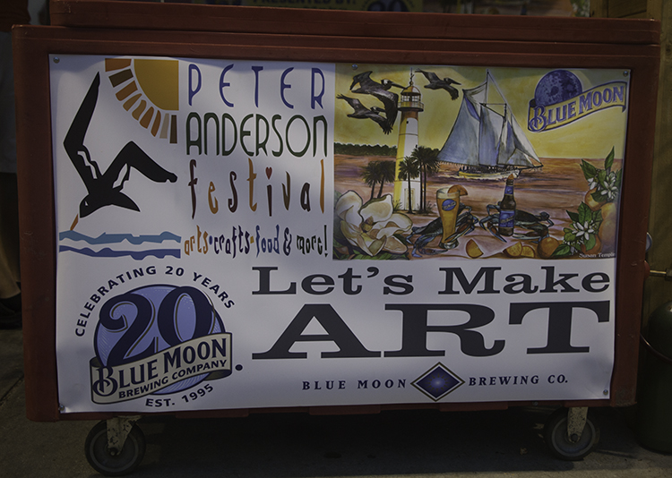 Festival sign on beer cart