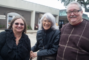 Educator Becky Jolly; Attic Gallery owner and artist Leslie Silver; and Randy Jolly, artist and Director of Gore Galleries in the Mississippi College Department of Art